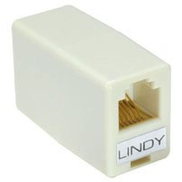 LINDY CABLES & ADAPTERS RJ11 / RJ12 COUPLER 6 PIN F / 6 PIN F CONNECTORS Image