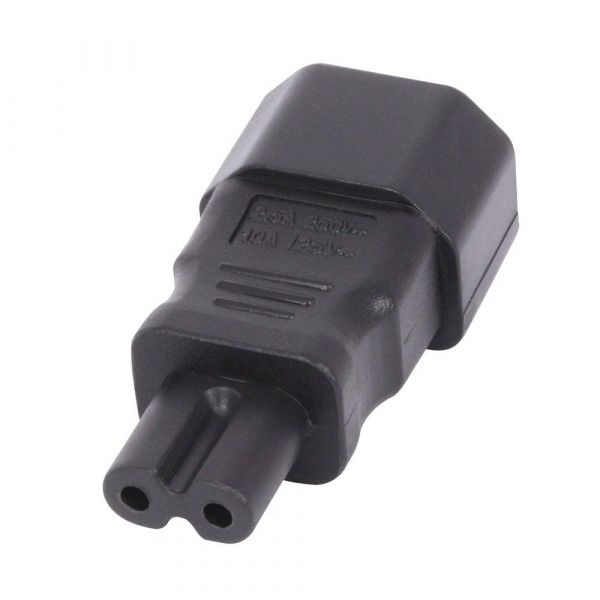 Lindy IEC C14 to IEC C7 Power Cable Adaptor (Black) Image