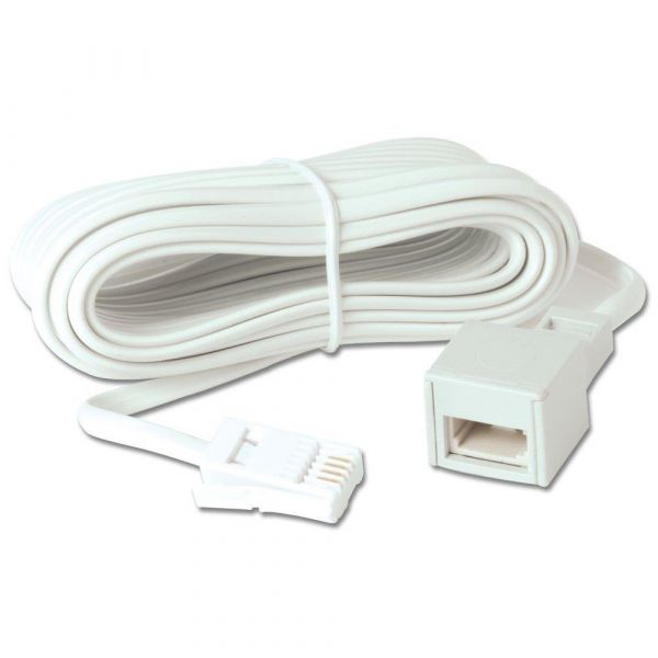Lindy (5m) Telephone Extension Cable (White) Image