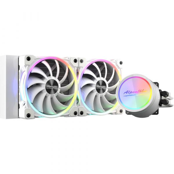 Alpenfohn Glacier Water 240 White High Speed ARGB CPU Water Cooler - 240mm Image