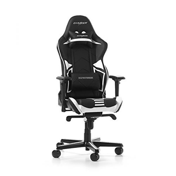 DXRacer Racing Pro Gaming Chair - Black/White R131-NW Image