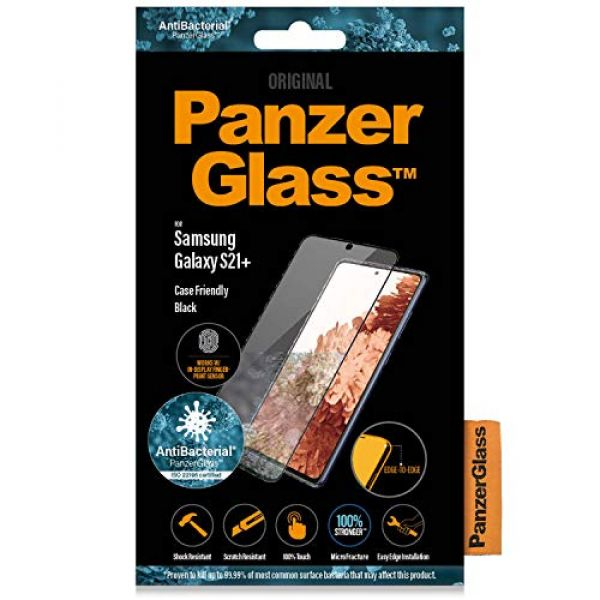 PANZER GLASS - SCREEN PROTECTORS PANZERGLASS NEW SAMSUNG GALAXY S+ SERIE FP CASE FRIENDLY BLACK Image