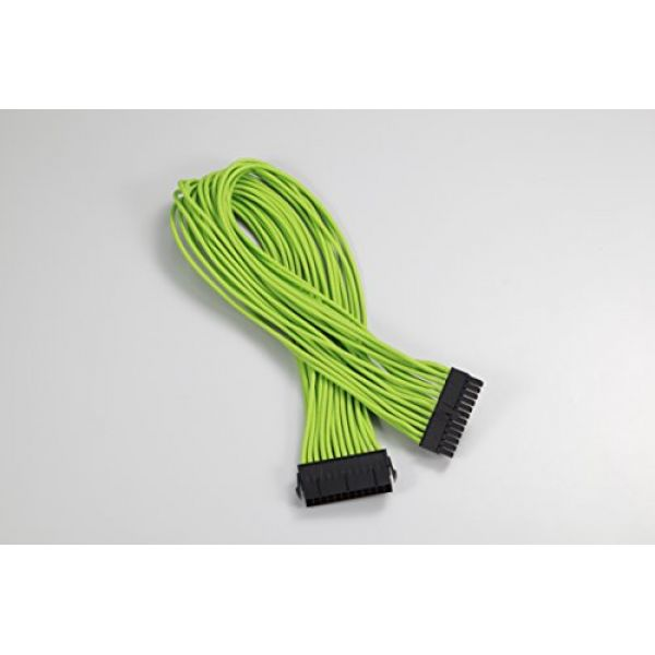 Phanteks 24-Pin ATX Cable Extension 50cm - Sleeved Green Image