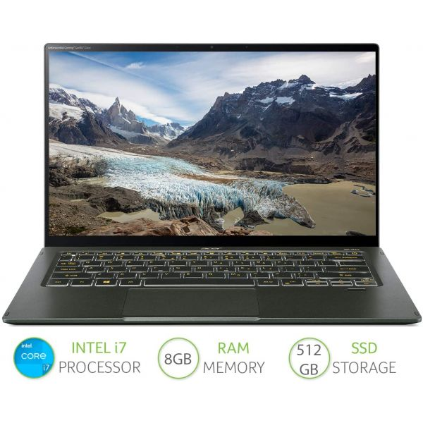 Acer Swift 5 SF514-55T - Intel Core i7-1165G7 8 GB 512GB PCIe NVMe SSD UMA 14 INCH FHD IPS Touch Windows 10 Racing Green Image