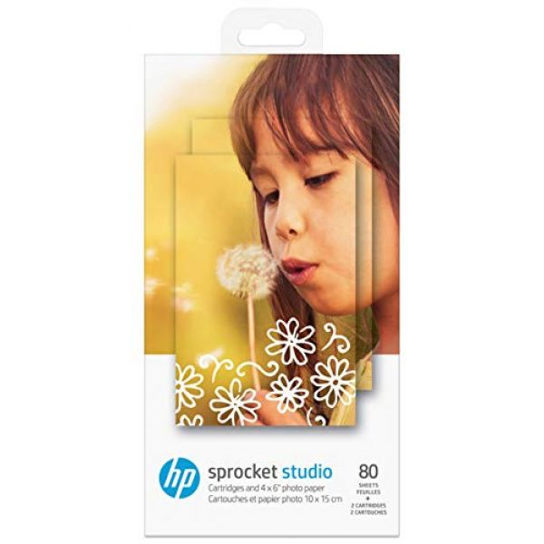 [Ex-Demo] HP Sprocket Studio (10 x 15cm) Photo Paper and Cartridges  Pack of 80 Sheets (Box open. Items as New) Image