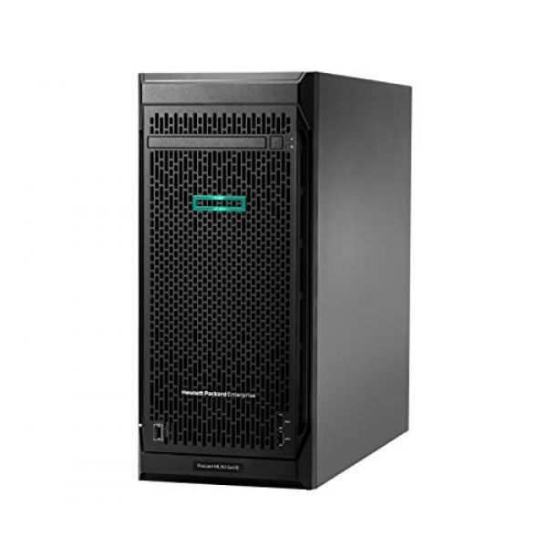 "Hewlett Packard Enterprise HPE ProLiant ML110 Gen10 Performance - Server - tower - 4.5U - 1-way - 1 x Xeon Silver 4208 / 2.1 GHz - SATA - hot-swap 2.5"" bay(s) - no HDD - GigE - monitor: none Image"