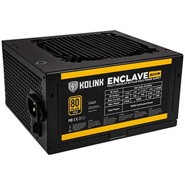 Kolink Enclave 600W 80 Plus Gold Modular Power Supply Image