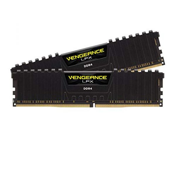 Corsair VENGEANCELPX16GB (2x 8GB) DDR4 3600 (Pc4-28800) C181.35V Desktop Memory – Black Image
