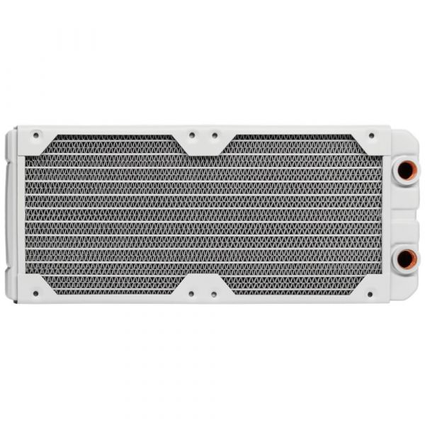 Corsair Hydro X Series XR5 240mm Dual Fan Water Cooling Radiator - White (CX-9030007-WW) Image