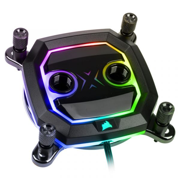 Corsair Hydro X Series XC5 RGB Black CPU Water Block for Intel 115x and 1200 (CX-9010011-WW) Image