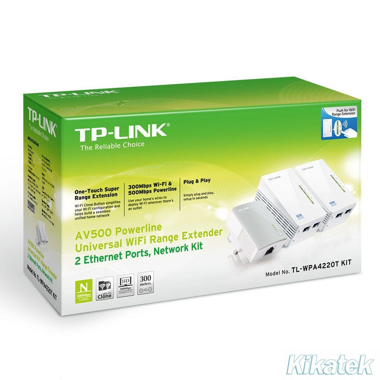 TL-WPA4220KIT | 300Mbps AV600 WiFi Powerline Extender ...