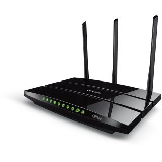 Product image of TP-LINK AC1200 867Mbps (5GHz) 300Mbps (2.4GHz) Dual-Band Wireless Gigabit Router Black (V1.0)