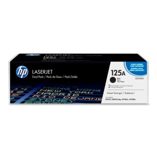 Product image of HP 125A Black Colour LaserJet Print Cartridge (Yield 2,200) with ColourSphere Toner (Dual Pack) for LaserJet CP1215, CM1312mfp, CP1515n, CP1518n