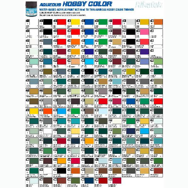 Mr Hobby Aqueous Hobby Color Chart Image