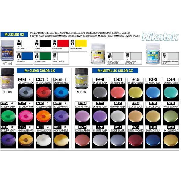 Mr Color GX Color Chart Image