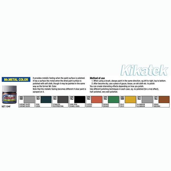Mr Metal Color Chart Image