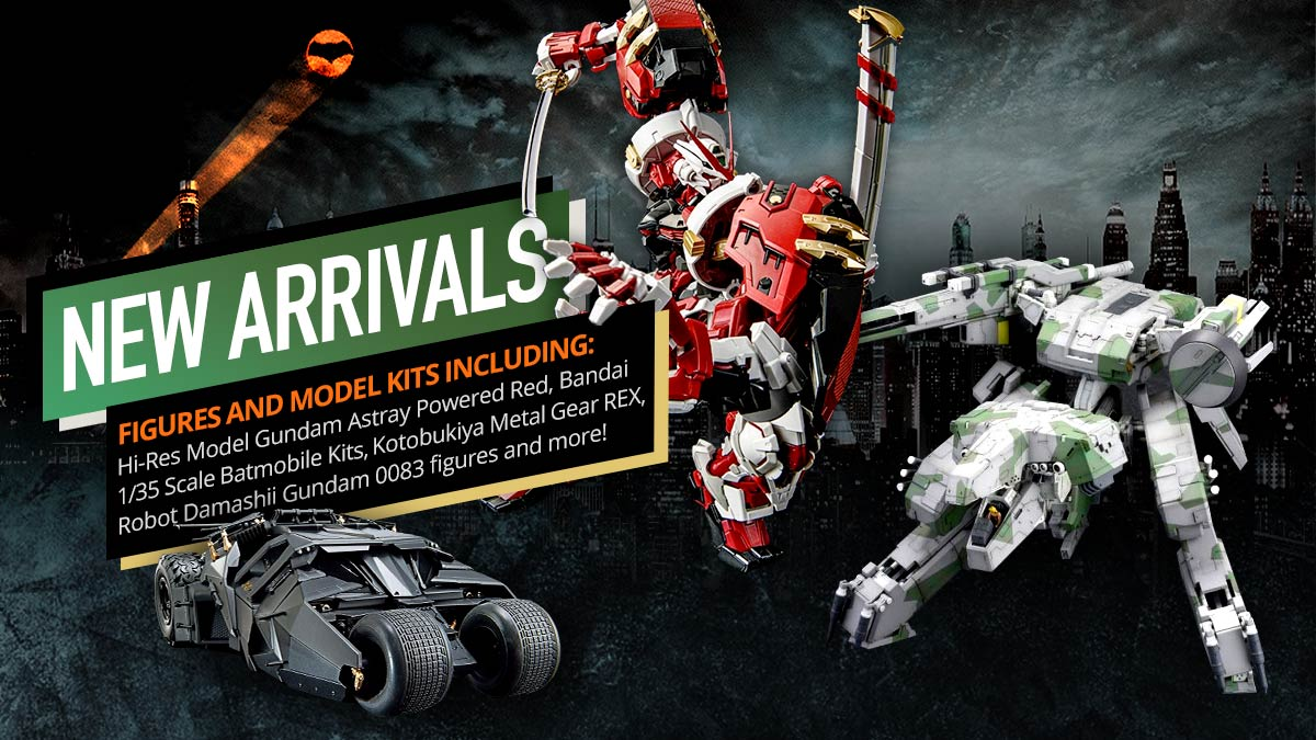 New figures and model kits arriving in July!